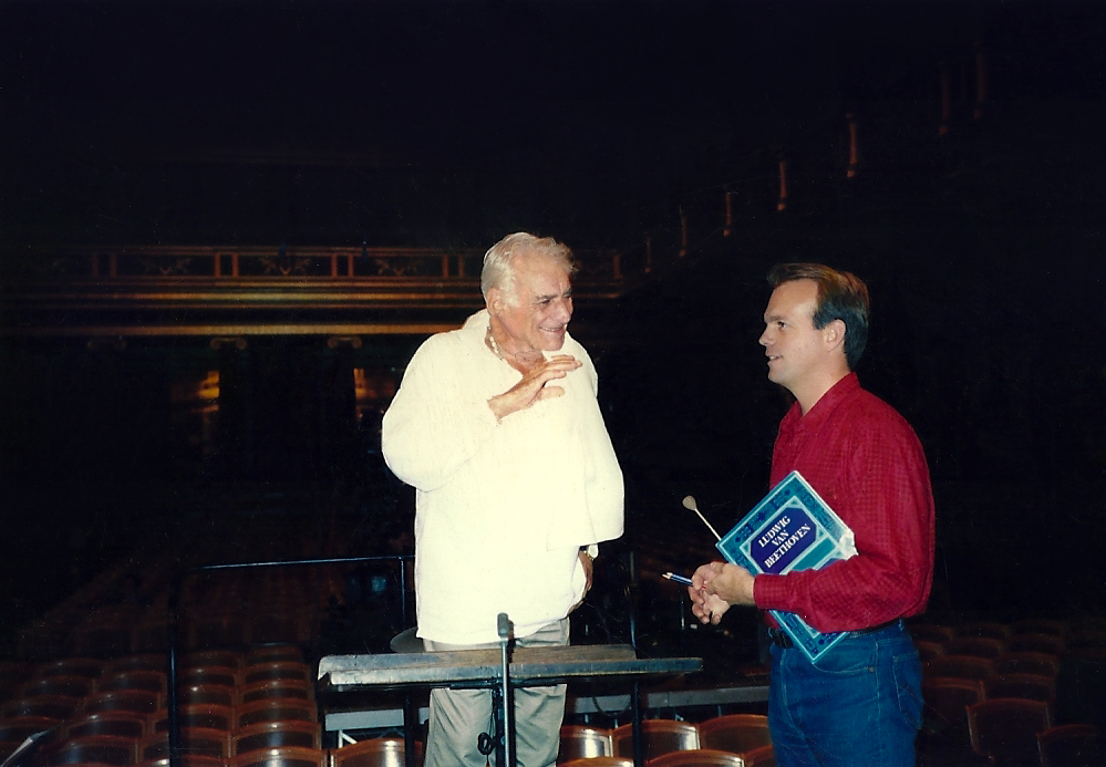 Craig Urquhart and Leonard Bernstein in the Musikverein.