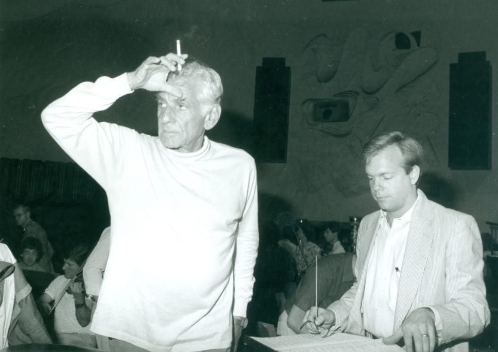 Leonard Bernstein and Craig Urquhart